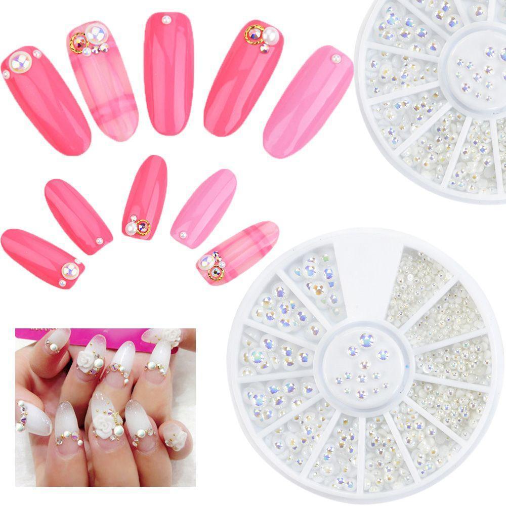 Gemischte Größe DIY Tipps Nail Art Strass Maniküre Decor Glitter ...