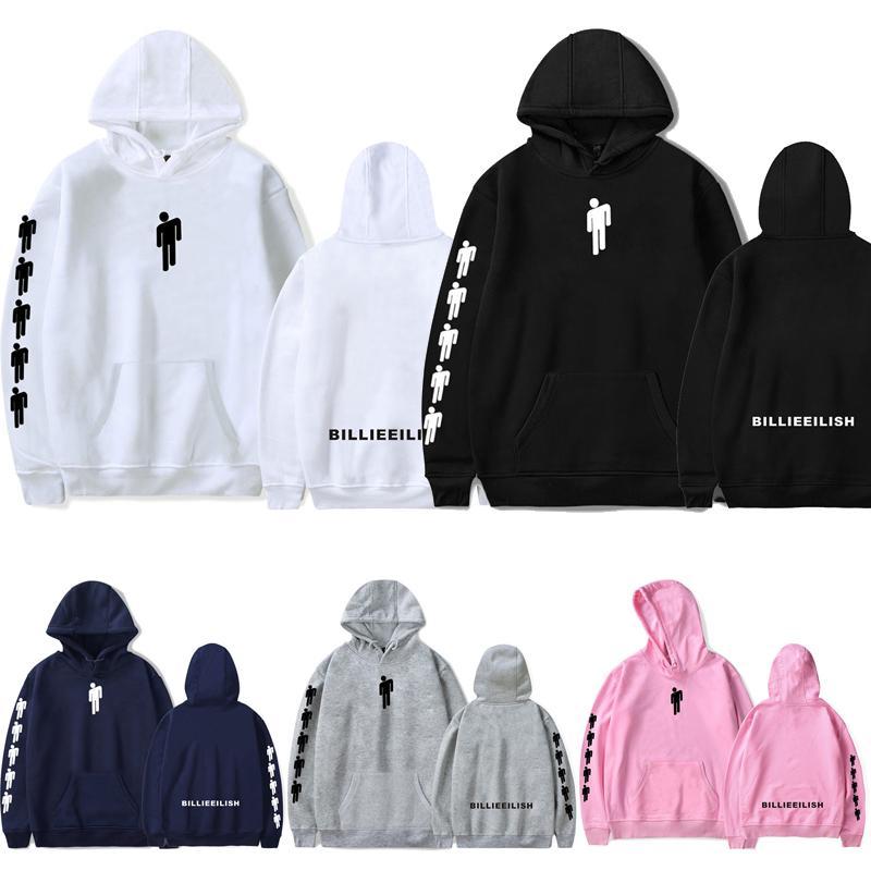 2019 New Billie Eilish Hoodie Sweatshirt Cartoon Pattern Pullover Cotton Sweater