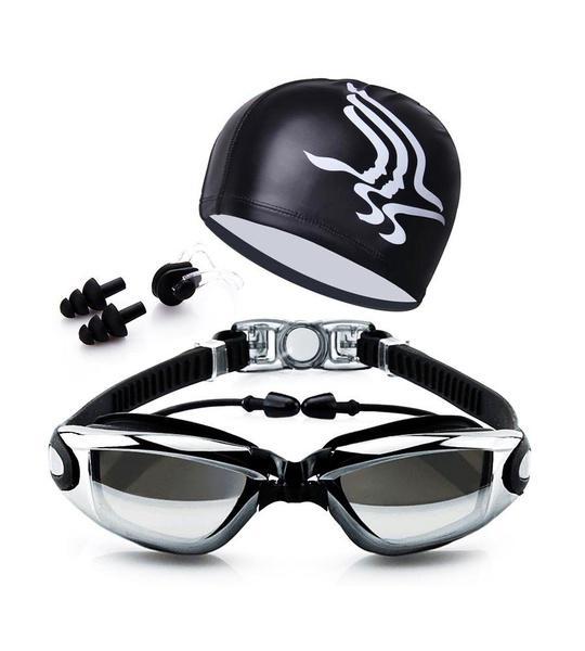 9eb11903f0da Gafas de protección casquillo del oído clip de la nariz del caso enchufe  dsoso nadando tapones para los oídos sin fugas anti niebla uv