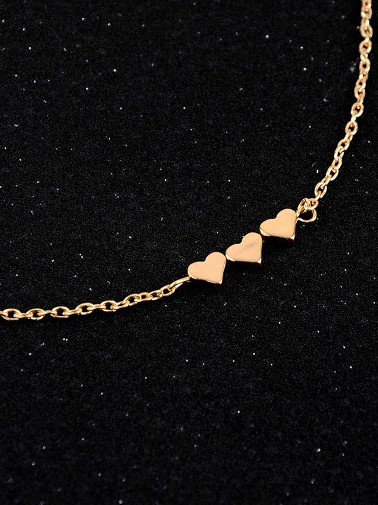 56d676267e SHEIN Three Heart Detail Chain Necklace-buy at a low prices on Joom ...