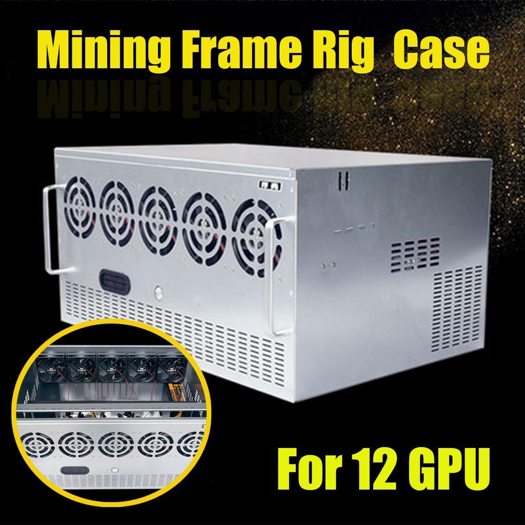 Mining Frame Rig Case For 12 GPU Mining Crypto Currency Rigs Miner DIY w// screws