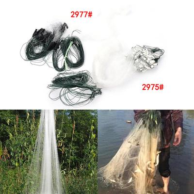20m 1Layers Fishing Net Monofilament Fishing Gill Network With Float 2Options GV