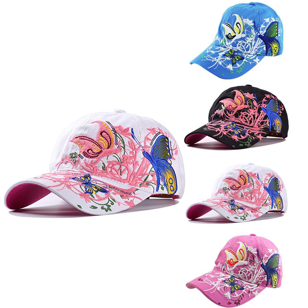 Flor de mariposa de verano sombrero bordado de las mujeres - comprar a  precios bajos en la tienda en línea Joom 71a75b54463