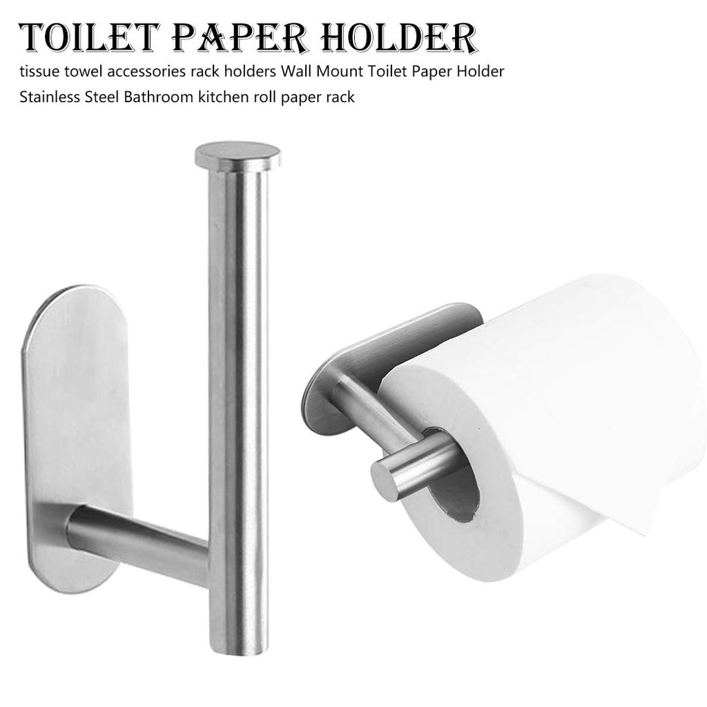 Towel Accessories Rack Holders Wall Mount Toilet Paper Holder Stainless Steel Bathroom Kitchen Buy At A Low Prices On Joom E Commerce Platform