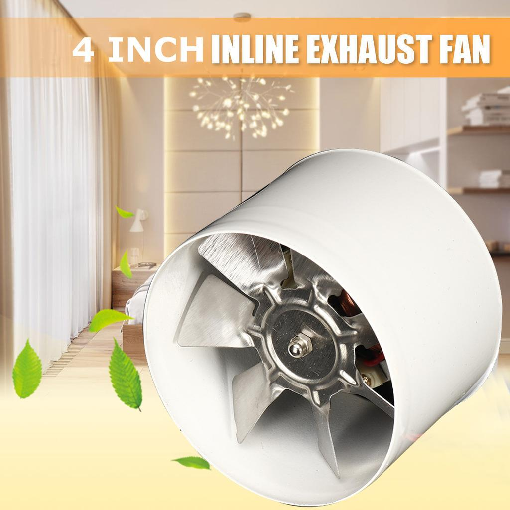 20W 20V 20 Inch Booster Exhaust Steel Fan Accessories Window Mountable  Inline Duct Fan Blower Air Cooling Vent Metal Blade for Kitchen Bathroom  Home