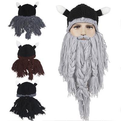 1 PC hombres mujeres divertido partido cara máscara gorros vikingos ...