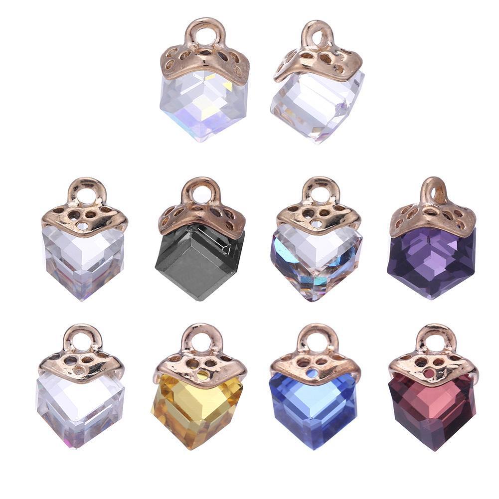 10x Alloy Rhinestone Snowflake Charms Pendants Xmas Jewelry Making Findings