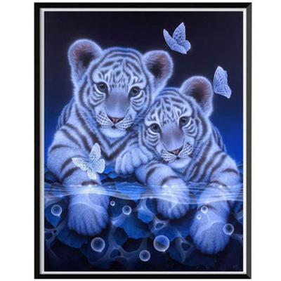 Butterfly,Full Round Diamond Home Decor Gift FANOUD 5D DIY Diamond Painting Embroidery Double Tiger