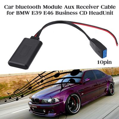 Car Bluetooth module audio Aux 10-pin Cable For BMW E46 2002-2006 busines CD
