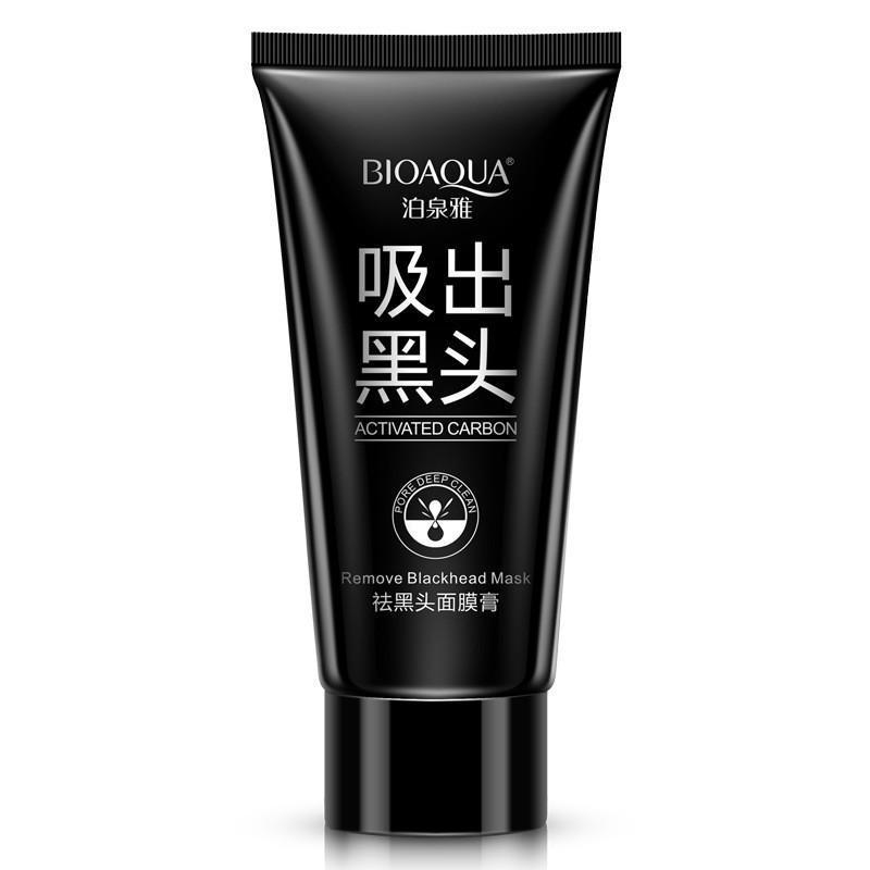 Удалить Blackhead Facial Маска BIOAUA Черный крем грязи Глубокое очищение лица уход за кожей фото