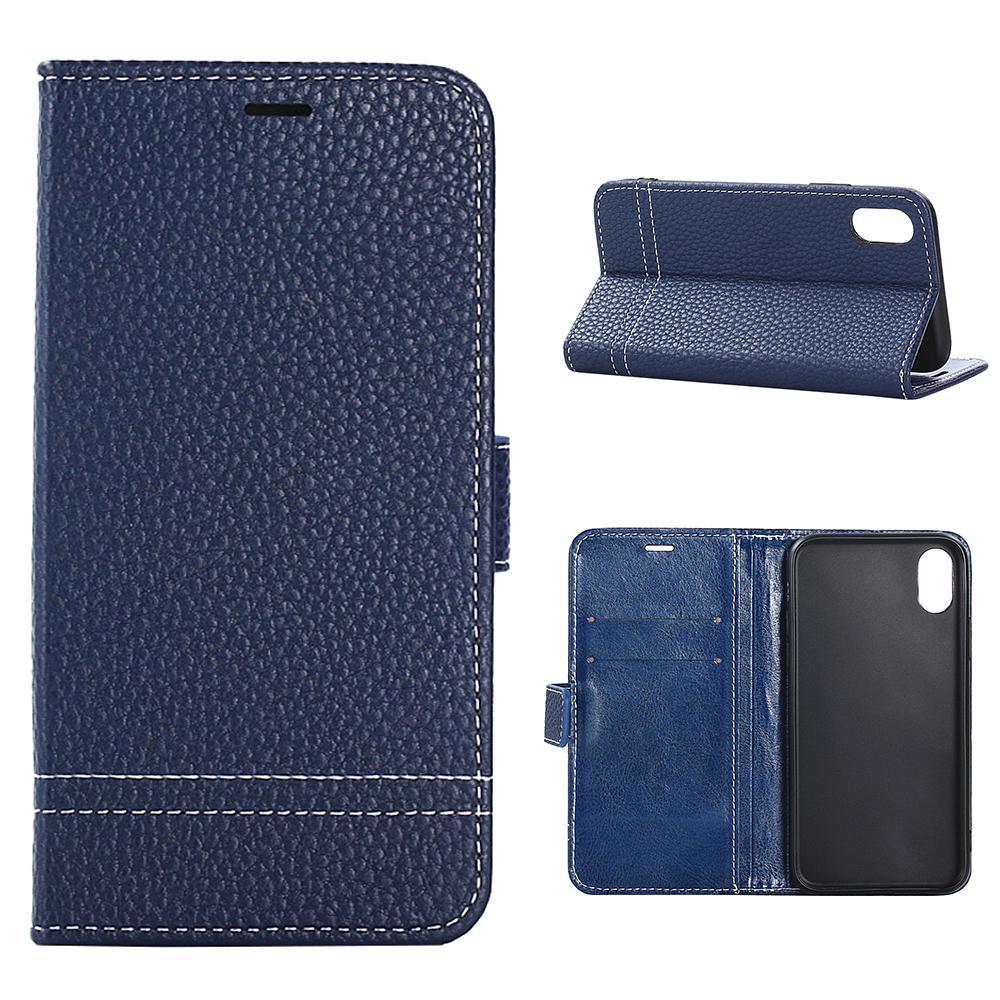 585d86ab521 caso del iPhone X, MOONCASE Litchi piel textura cuero Flexible cubierta  caja de tapa - comprar a precios bajos en la tienda en línea Joom