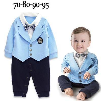Bodysuits & One-pieces 1pcs Kid Baby Boy Gentleman Romper Jumpsuit Clothes Outfit Suits Long Sleeve Button Casual Fashion Romper 0-24m Rompers