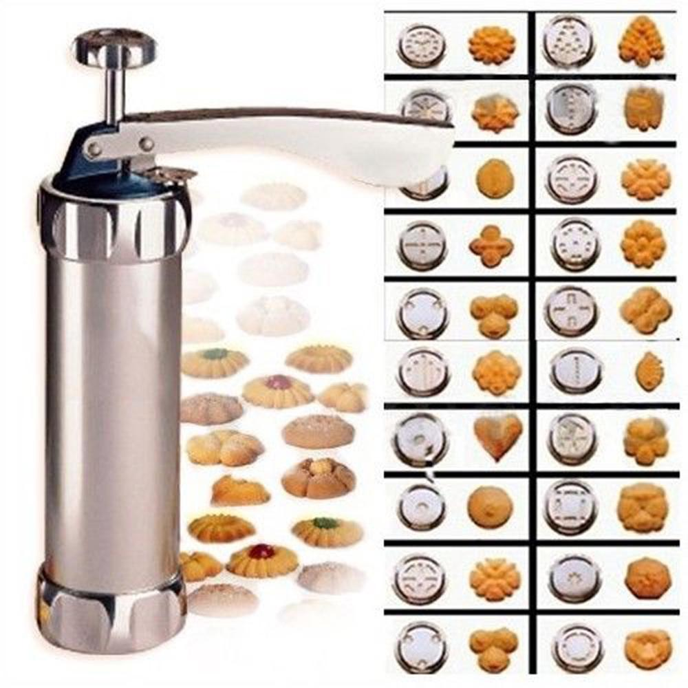 Biscuit Cookie Maker Press Pump Machine With 20 Cookie Discs