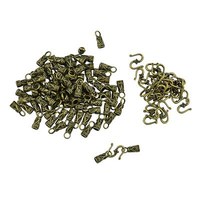 10 Set Bronze//Gold Barrel Magnetic Clasps 16x7mm Bracelet Jewellery Findings