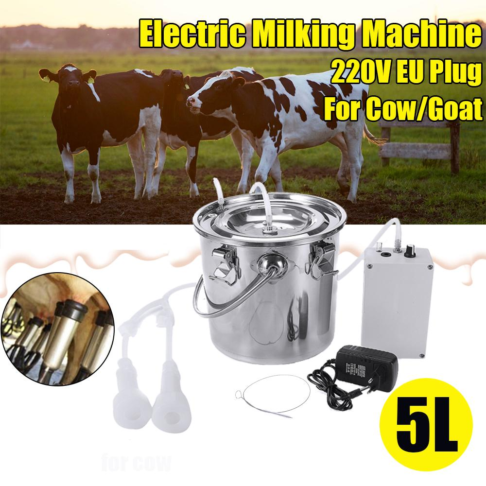 5L Electric Milking Machine for Goat Stainless steel Sheep Milker Vacuum Pump