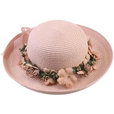 Todo el borde sombrero verano playa de mujer señora paja tapa sol disquete sombreros  para adultos 29a4860fe01
