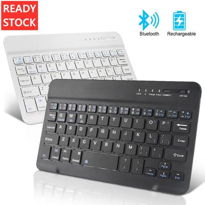 10 Inch Mini Wireless Keyboard Bluetooth Keyboard For Ipad Phone Laptop Rubber Keycaps Rechargeable Keyboard For Android Ios Windows