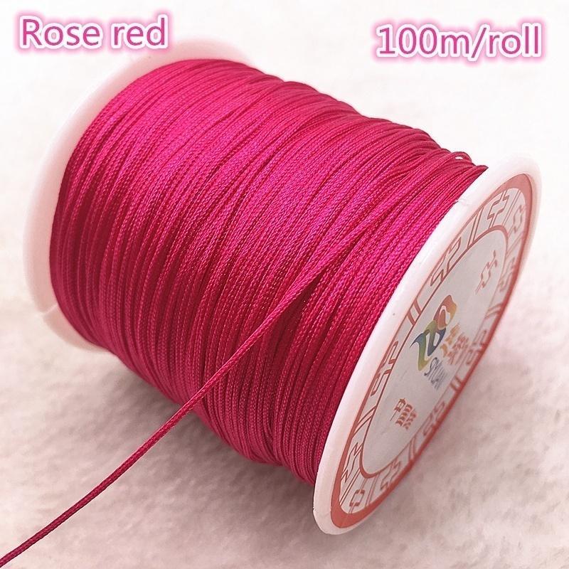 Nylon thread 0,8mm pink 10m