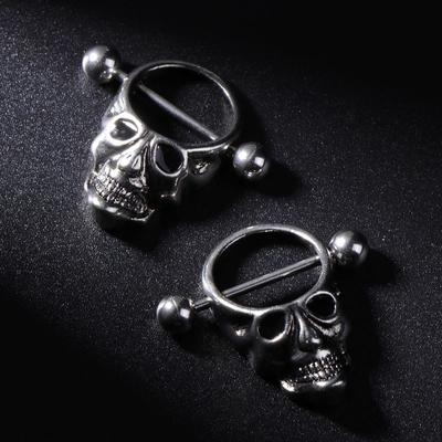 2pcs Nipple Piercing Women Lady Fashion Stainless Steel Skull Bars Ring Jewelry Buy At A Low Prices On Joom E Commerce Platform