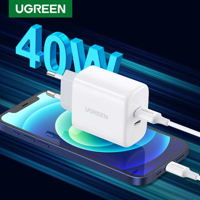 Dual 20W PD USB C Charger for iPhone 13 12 Fast Charger Quick Charge 4.0 3.0 Charging for Samsung Mobile Phone Charger