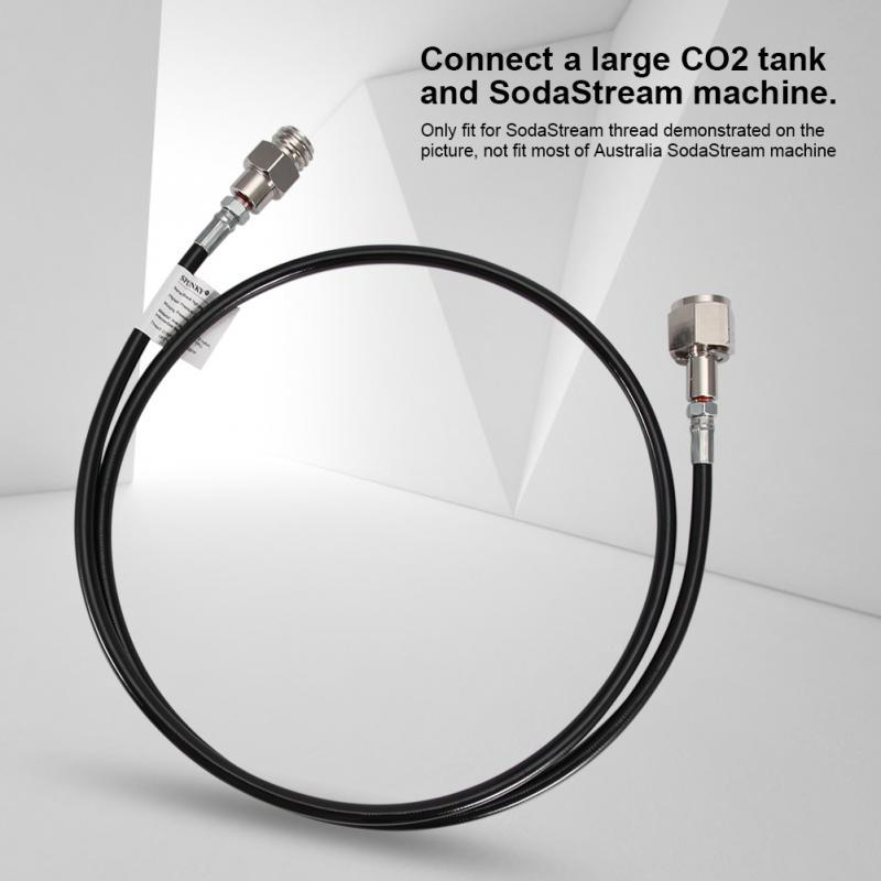 60 inches for soda Stream Soda Club Adapter kit for External Hose CGA320 Connection External Hose 1.5 m TR21-4、G1//2