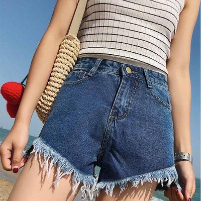 4d11002ada Damskie letnie spodnie na co dzień Street Jeans Legginsy Hole Denim pasują  do wysokich talii Harajuku