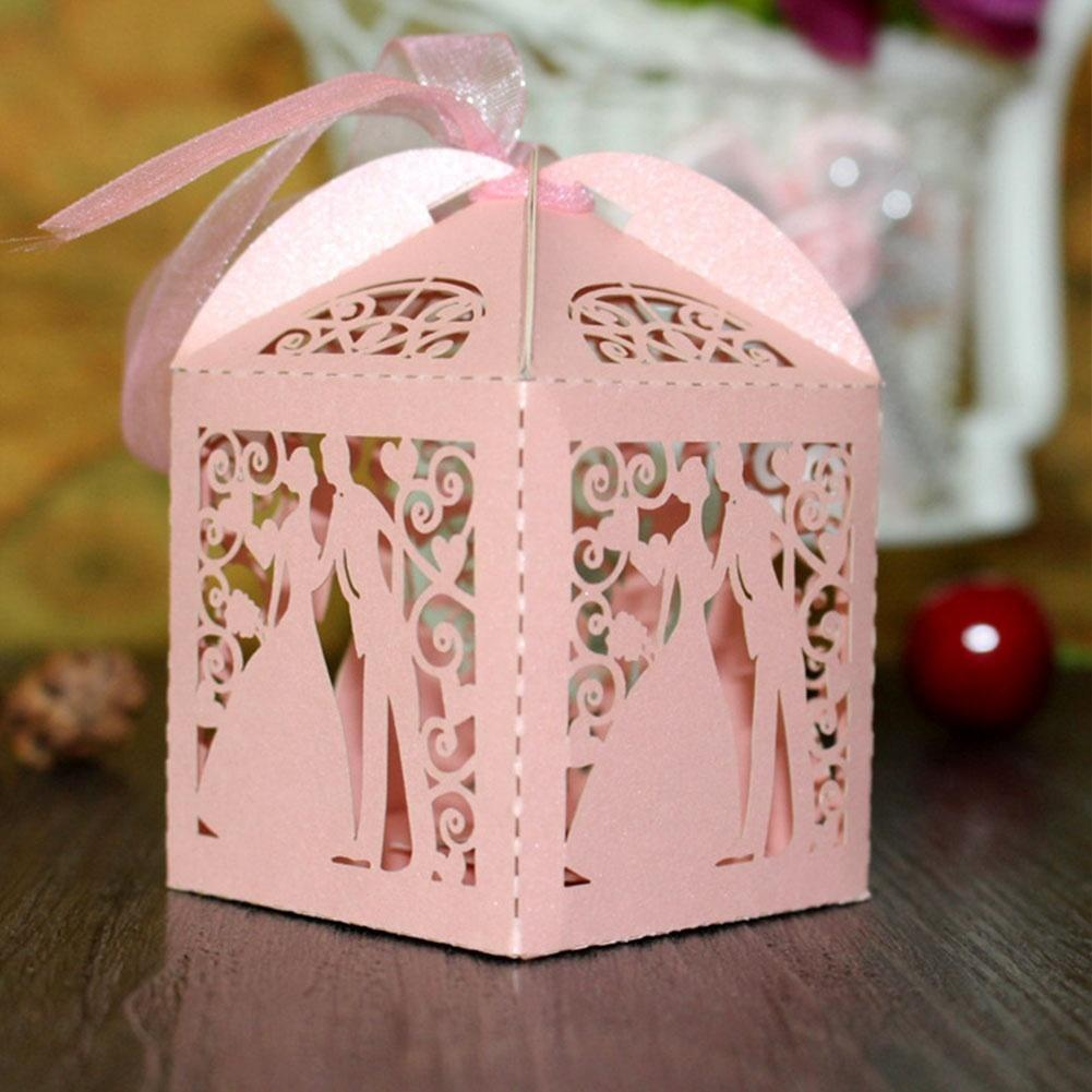 10x Candy Box Wedding Favors Gifts Box Birthday Gift Craft bags ...