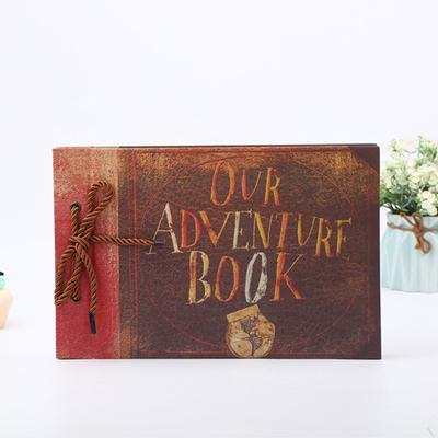 Vintage Photo Album Scrapbook Our Adventure Book Memory Anniversary 80 pages