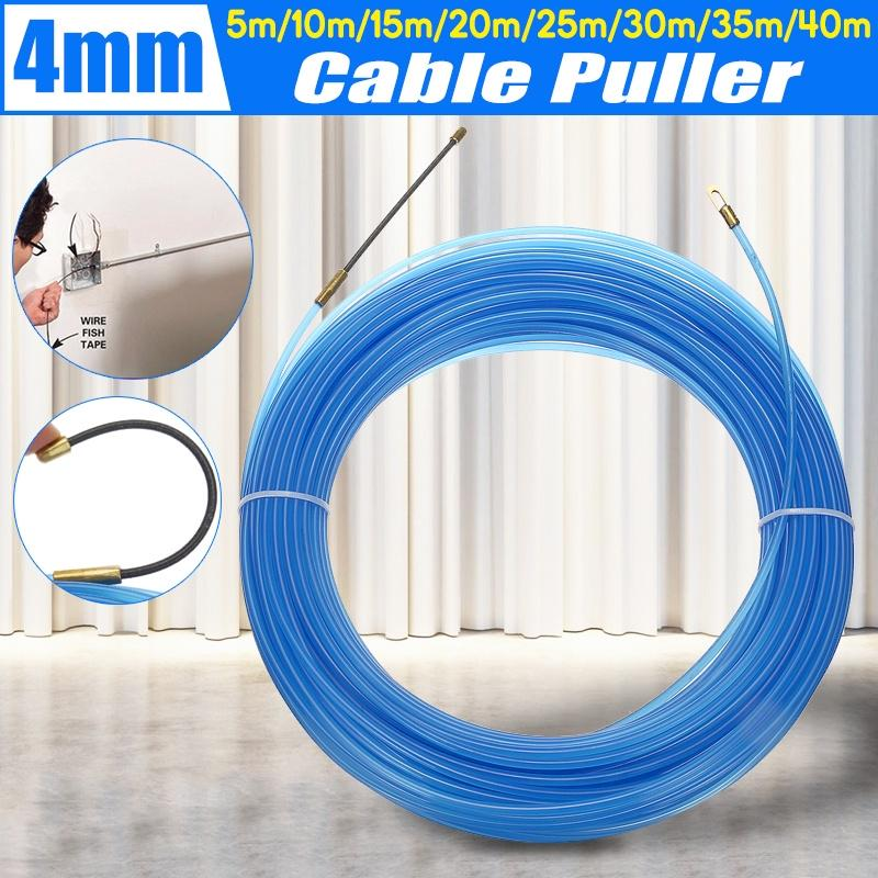 5-30m Draw Tape Fiberglass Electrical Fish Cable Wire Wheel Puller Pulling 6.5MM