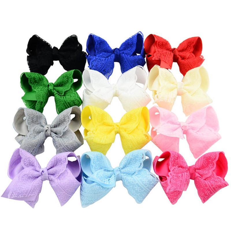 Big Lace Flower Bows Hair Rope Hair Clip Ribbon Hair Bands Hairpin Headwear