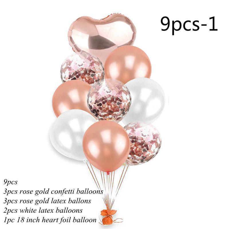 "12/"" 18/"" Rainbow Foil Latex Confetti Helium Balloons Birthday Wedding Party Decor"