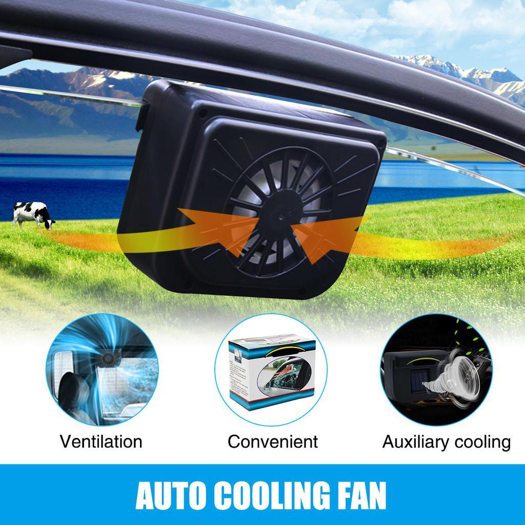 New Solar Powered Fans Window Windshield Fan Ventilator Auto Cooling Cool Car 1 Of 7