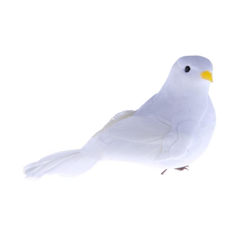 12PC Artificial Foam Simulation Birds DIY Party Craft Garden Desk Tree Decor