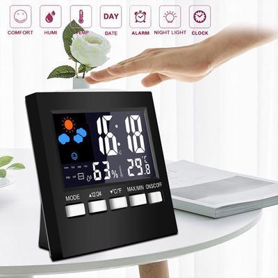 Multi-functional Digital Colorful LCD Thermometer Hygrometer Alarm Clock