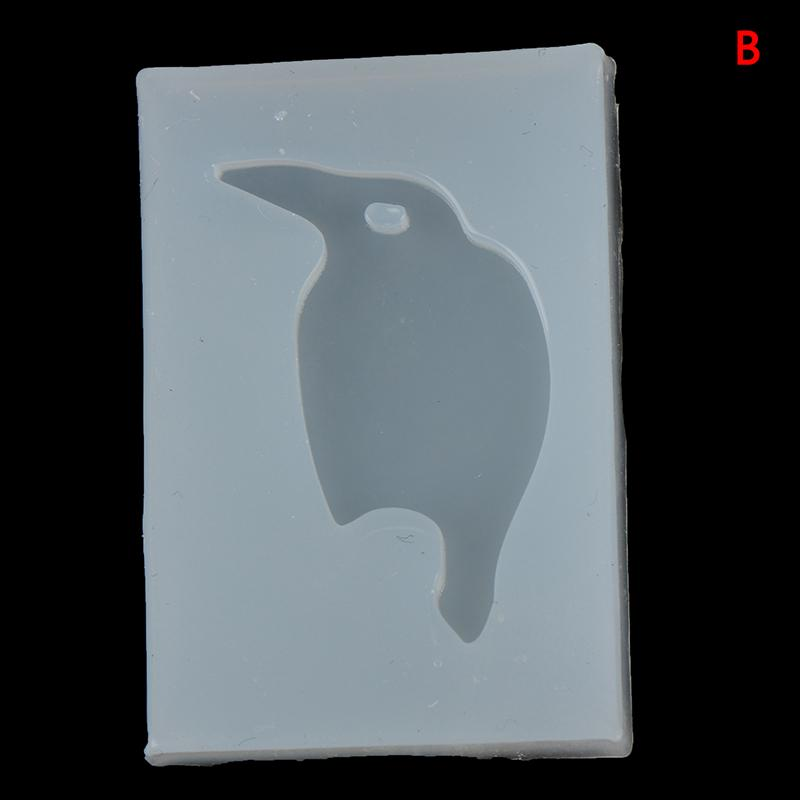 Penguin Bird DIY Silicone Mold Keyring Keychain Jewelry Pendant Resin Clay Craft