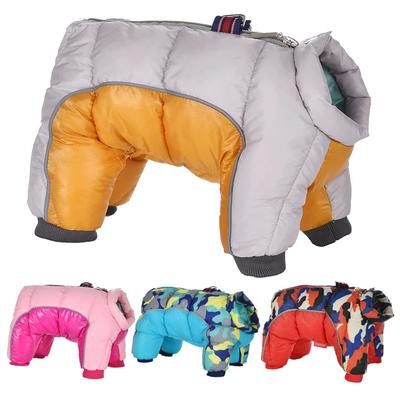 Winter Dog Clothes Thicken Warm Clothes For Small Medium Dogs Waterproof Reflective Puppy Pet Dog Coat Jacket French Bulldog Pug Clothing Overalls