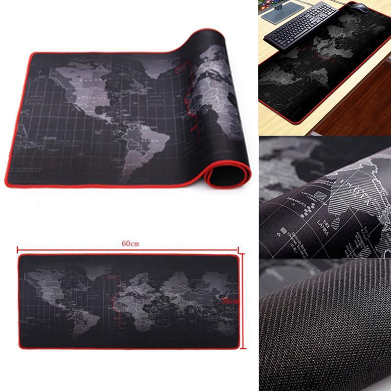 1шт Расширенная мира карта игровой Pad Резинотканную большие красные края резиновых бюро Клавиатуры Коврик для мыши фото