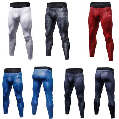 Mens Gym Sport Joggers Tight Compression Base Layer Pants Long Leggings Trousers