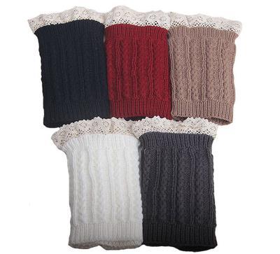 Encaje Crochet adorno pie punto pata bota puño calcetín rodillas ...