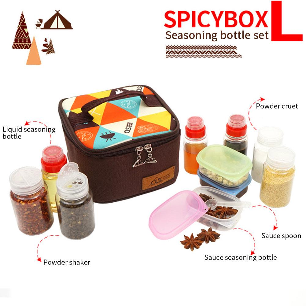 Würze Gewürz Flasche Topf Container Würze Jar Cruet Camping Wandern BBQ