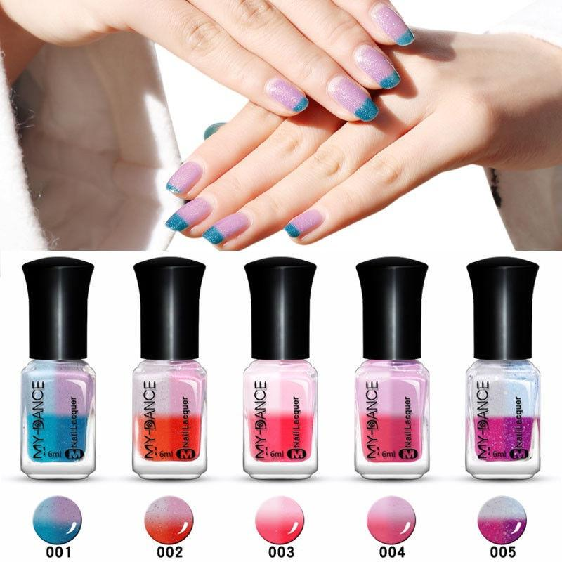 4 colores uñas cambio producto Gel uñas cambio de temperatura Color ...