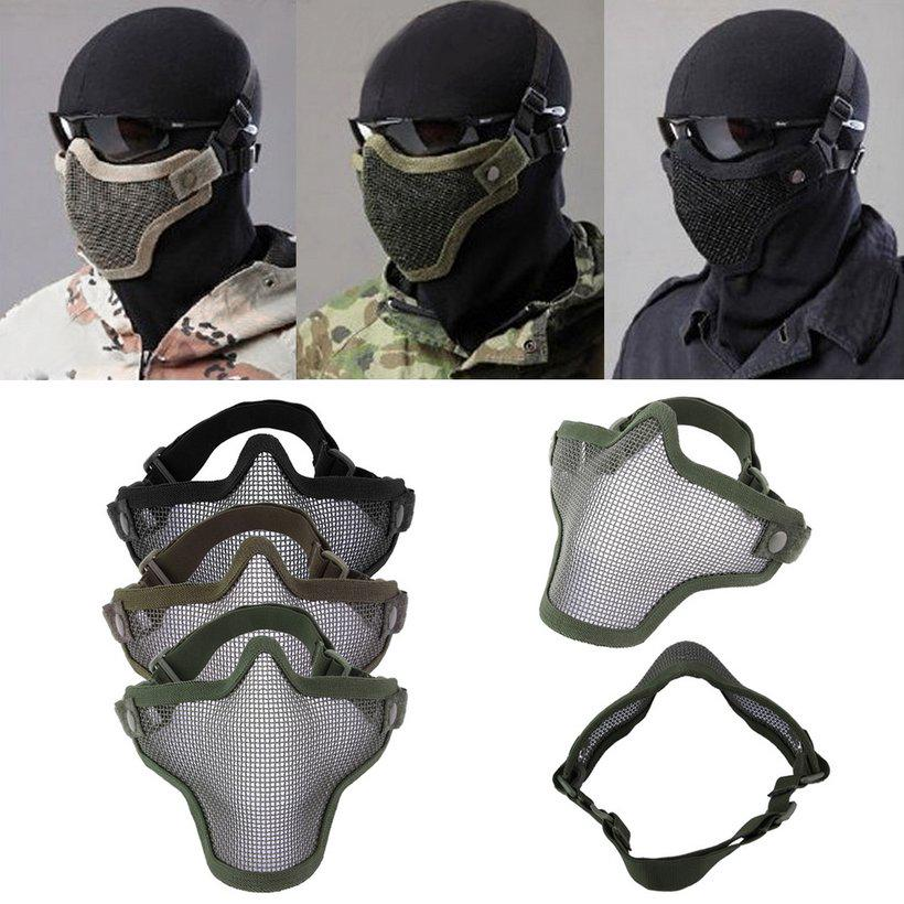Steel Mesh Half Face Mask Guard Protect For Paintball Airsoft Game Hunting Buy At A Low Prices On Joom E Commerce Platform