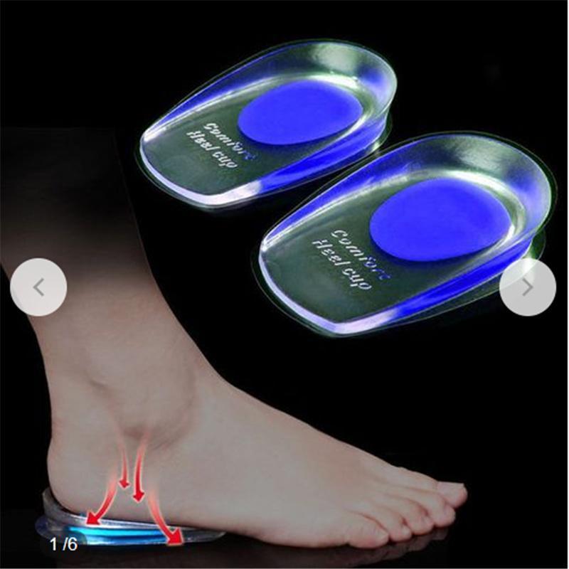Silicone Talonnettes Insertions de 5 Couche Gel Augmentation Coussinet de Talon Botte Chaussure Souple Anti-d/érapante Masculines 1 Paire Hauteur R/églable Semelles orthop/édiques