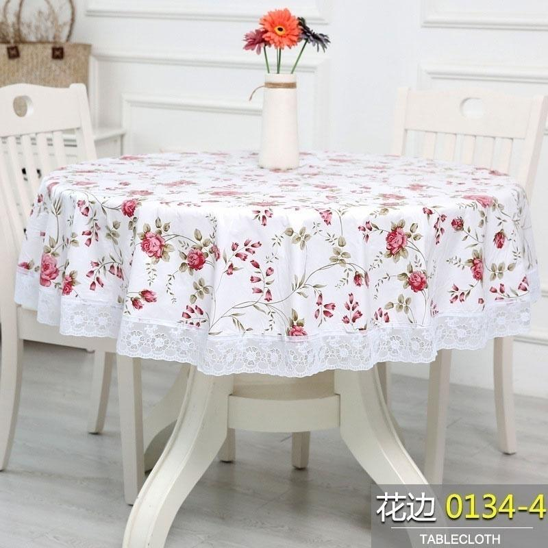 Velvet Plastic Large Round Table Cloth, Round Table Cover