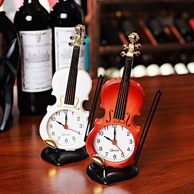 Violin Students Use Alarm Clock Creative Fashion Simple European Style Children's Cute Cartoon Bedside Retro Ornament Decoration
