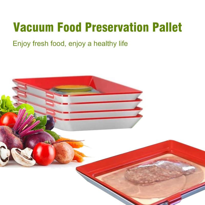 4Pcs Creative Fresh Food Preservation Tray Organizer For  Storage Container