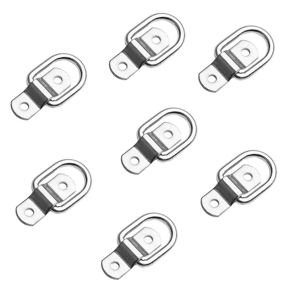 10 Surface Mount D Rope Ring 1//4 Inches Tie Down Truck Trailer Cargo Van 4 Inches Round