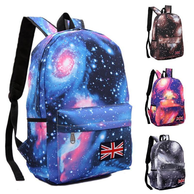 c4875228e5c7 Galaxy School Bag Girl Boy Travel Rucksack Laptop Bookbag Shoulder ...