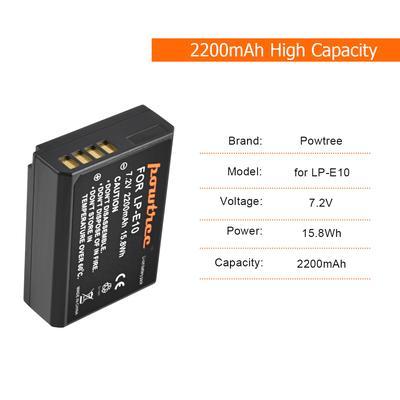 Powtree LP-E10 Camera Battery Replace For Canon LP-E10