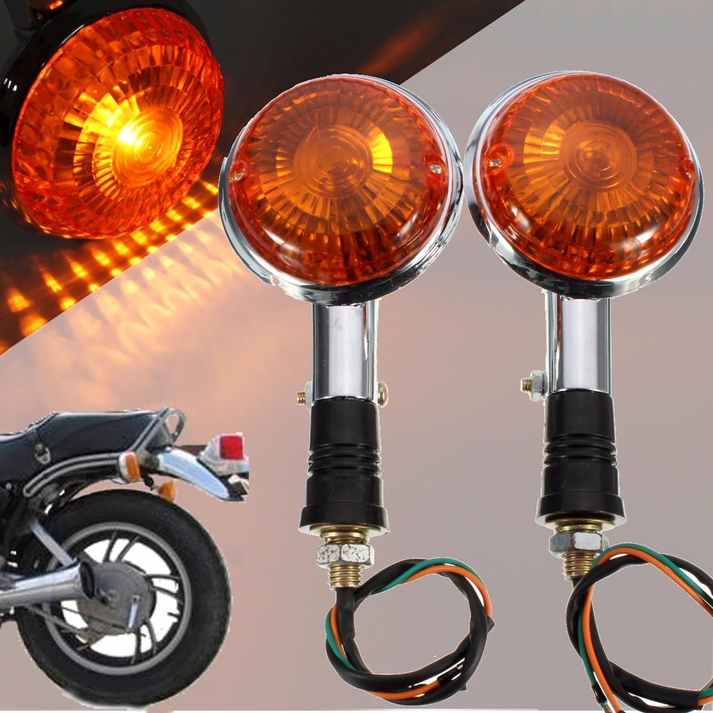 Clear Front or Rear Winker Indicators Pair Yamaha XVS 650 V-Star Custom 98-04